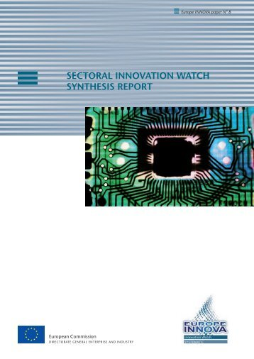 sectoral innovation watch synthesis report - Europe Innova