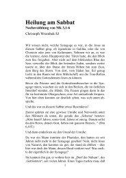 Heilung am Sabbat - Christoph Wrembek
