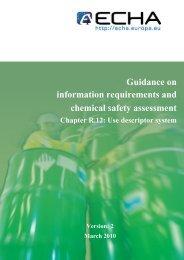 r.12. use descriptor system - ECHA - Europa
