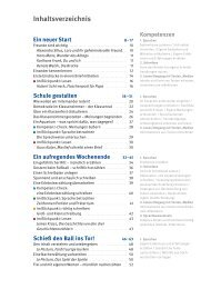 Inhaltsverzeichnis Ein neuer Start