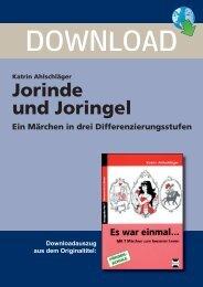 Jorinde und Joringel - Persen Verlag
