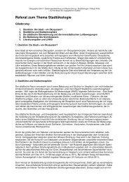 Referat zum Thema Stadtökologie - Birgit Rolle.de