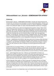 """Aktionsleitfaden von """"Schulen - GEMEINSAM FÜR AFRIKA"""""""