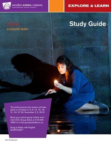 Aida Study Guide - Canadian Opera Company