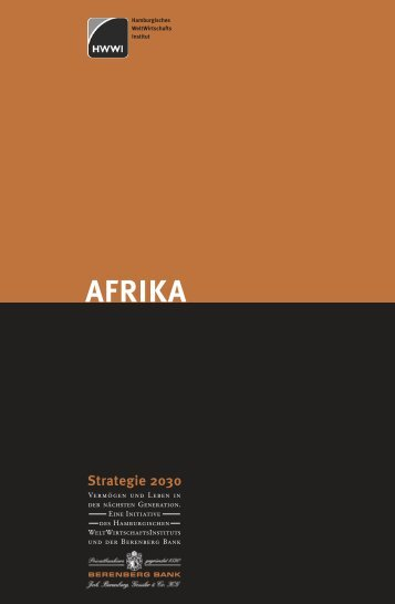 Afrika: Strategie 2030 - HWWI