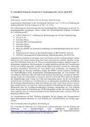 11. ordentliche Sitzung des Senates der 4. Funktionsperiode vom 26 ...