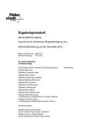 Ergebnisprotokoll - Stadt Filderstadt