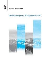 Abstimmung vom 26. September 2010 - Regierungsrat - Basel-Stadt