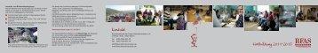 Fortbildung 2011-2013 Kontakt - BFAS