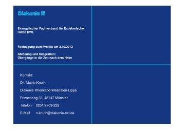 Kontakt: Dr. Nicole Knuth Diakonie Rheinland-Westfalen-Lippe ...