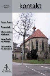 kontakt«-Gesicht - Alt-Katholische Gemeinde Stuttgart