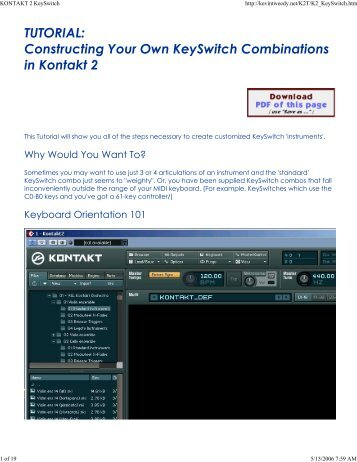KONTAKT 2 KeySwitch
