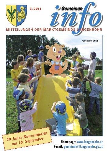 Gemeinde-Info (3,61 MB) - Marktgemeinde Langenrohr