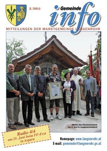 Gemeinde-Info (2,16 MB) - Marktgemeinde Langenrohr