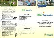 Innovation aus Forschung und Praxis für Biologielehrkräfte ... - VBio