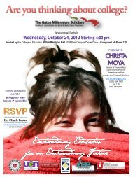 Wednesday, October 24, 2012 Starting 4:00 pm - College of ...