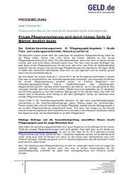 Private Pflegeversicherung wird durch Unisex-Tarife für ... - Geld.de