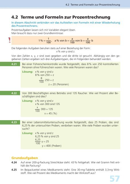 42 Terme Und Formeln Zur Prozentrechnung