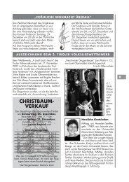 CHRISTBAUM- VERKAUF - Leisach
