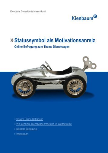 Statussymbol als Motivationsanreiz Online Befragung zum Thema ...