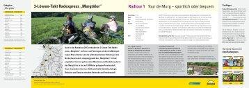"3-Löwen-Takt Radexpress ""Murgtäler"" Radtour 1 Tour de Murg ..."