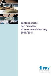 Zahlenbericht der Privaten Krankenversicherung 2010/2011