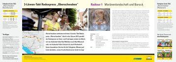 """3-Löwen-Takt Radexpress """"Oberschwaben"""" Radtour 1 ..."""