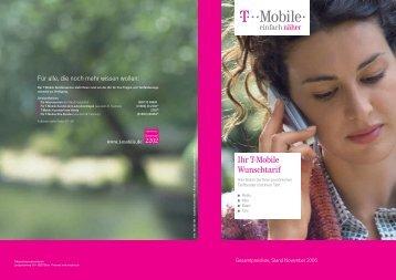Ihr T-Mobile Wunschtarif - Telekom