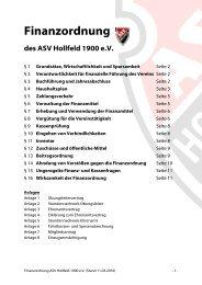 Finanzordnung des ASV Hollfeld 1900 eV - geomix.at