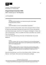Manuskript / Serviceblatt - WDR 5