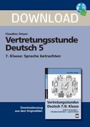 Claudine Steyer Vertretungsstunde Deutsch 5 7. Klasse - FORREFS
