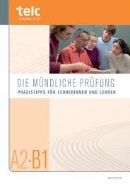 Praxistipps für Lehrerinnen und Lehrer - telc GmbH