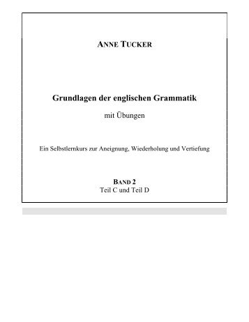 Grundlagen der englischen Grammatik - Anne Tucker