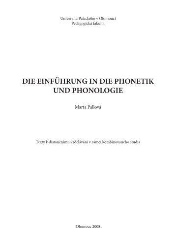die einführung in die phonetik und phonologie - New Page 1 ...
