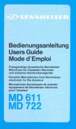 MD 611 MD 722 - Sennheiser