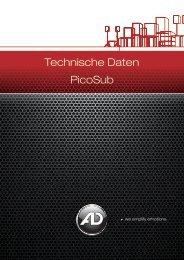 Technische Daten PicoSub