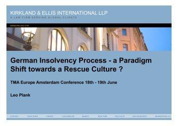Leo Plank, Kirklamnd & Ellis, Germany (PDF 390k - Turnaround ...
