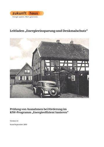 """Leitfaden """"Energieeinsparung und Denkmalschutz"""" - Zukunft Haus"""