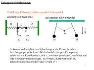 Gekoppelte Schwingungen Vorführung Phänomen: Schwerependel ...