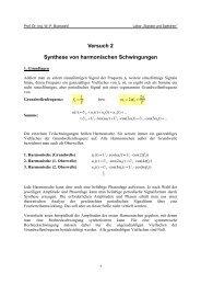 Versuch 2 Synthese von harmonischen Schwingungen