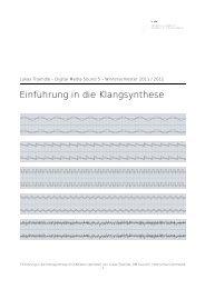 Einführung in die Klangsynthese - Hostarea
