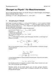 Übungen zu Physik 1 für Maschinenwesen - E13