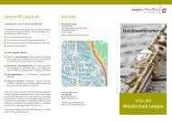 Holzblasinstrumente Infos der Musikschule Langen