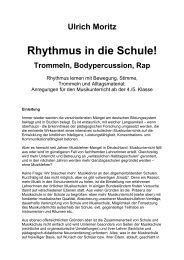 Rhythmus in die Schule! - uli moritz