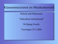 Empfehlung einer Strategie - Wolfgang Feucht