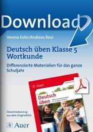 Deutsch üben Klasse 5 Wortkunde - FORREFS