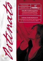 Aktuelle Studienangebote Solisten-Orchesterkonzert - Vorarlberger ...