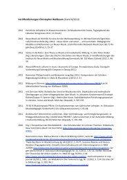 Veröffentlichungen Christopher Wallbaum (Stand 8/2012)