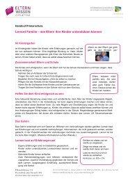 Handout Referat Primar - Schule Zeiningen