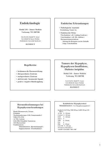 Endokrinologie - Medizinische Universität Innsbruck